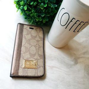 Coach iPhone 7plus/8plus Wallet Case Monogram
